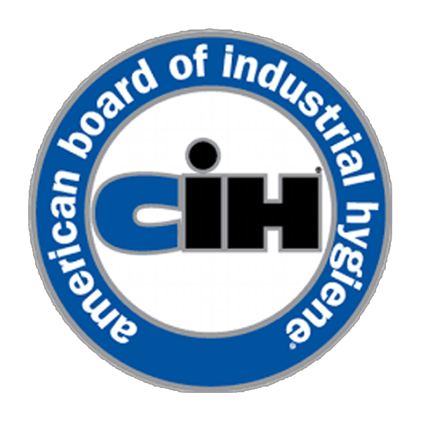 Depiction of EHS Analytical Solutions, Inc. Certified Industrial Hygienist (CIH) logo from the American Board of Industrial Hygiene. Our experts provide risk assessments and evaluations concerning health hazards in the workplace. These risk assessments are commonly called Industrial Hygiene surveys.  Industrial Hygiene surveys are performed to understand the level of exposure risk to chemical, physical, and biological hazards.  EHS Analytical Solutions's experts provide cost effective solutions to employers to meet health and safety goals.