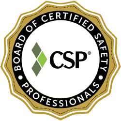 The CSP or Certified Safety Professional certification is held by many members of EHS Analytical Solutions, Inc. This logo is provided by the Board of Certified Safety Professionals (BCSP). Our certified safety professionals provide cost effective safety solutions to employers in San Diego and Southern California.